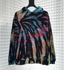PONY STONE 19 AMIRI vintage Hoodie hand dyed multicolor fabric