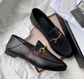 Gucci BLACK Leather HORSEBIT loafers with Kingsnake Slip-ons On Sale