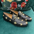 gucci Leather loafer with Interlocking G Horsebit mens moccasins loafers shoes