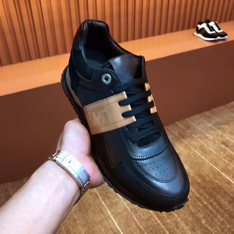 Fendi FF Embroidered colorblock leather sneakers shop designer men women shoes  13