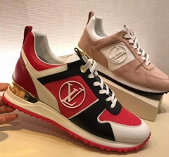 Louis Vuitton Run Away Sneaker calf leather bold color-block running shoes LV