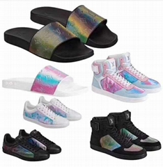 Rainbow Laser Magic Shoes pvc lace-up    casual board Trainer (Hot Product - 1*)