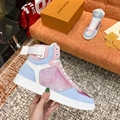 Louis Vuitton Rainbow Laser Magic Shoes pvc lace-up LV casual board Trainer 13
