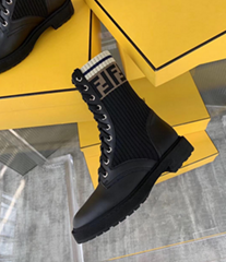 Fendi Women's Rockoko Boot Black Calf