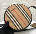 BURBERRY Street art print vintage check crossbody bag