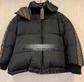 JACKET Black nylon down jacket Oversized