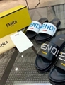 Fendi Black rubber slides One-Band Slide