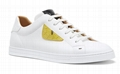 Fendi SNEAKERS White leather low-tops