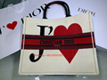 Christian Dior Limited Edition Hearts-Filled Dioramour BOOK TOTE BAG IN