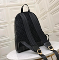 Burberry Unisex Leather Trim London Check Backpack Blue
