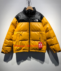 Supreme 17FW TNF92 Leather Nuptse Jacket