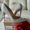 Christian Louboutin Anjalina 100 Spikes Glitter Pumps 42 So Kate Pigalle heels
