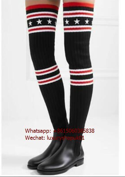 Givenchy Storm Over-The-Knee Sock Boots stretchy thigh-high socks women shoes