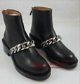 Givenchy Laura-Chain Link Black Laura Chain Leather Ankle Boots women shoes sale