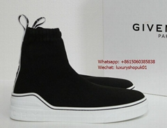 GIVENCHY George V stretch High-Top Knit sock sneaker Black men women shoes boots