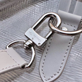 Louis Vuitton Keepall Bandouliere 50 Luggage in Silver White