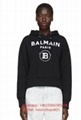 Balmain Black Cropped Flocked Logo