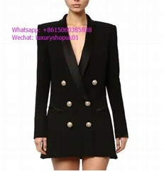 Balmain Double breasted viscose suit dress jacket Buy Online women clothes cheap