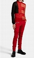 BALMAIN Slim Biker Jeans red stretch-cotton denim corrugated knees Slim fit