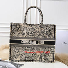 Christian Dior 2019 Lady BOOK TOTE TOILE de Ultra Matte Satchel JOUY BAG