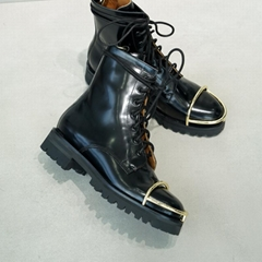Alexander Wang Lyndon Leather Combat Ankle Military Boot biker bootie