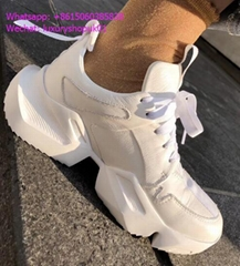 Unravel Project White suede Low Top sneakers chunky sculptural rubber soles shoe