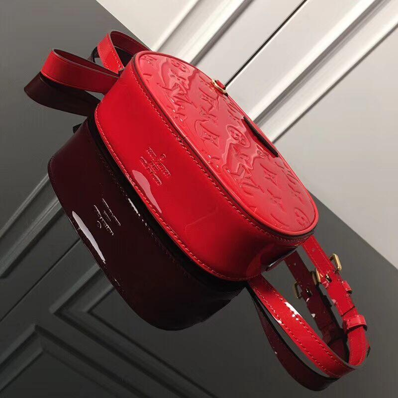 Louis Vuitton M90464 Beltbag Monogram Vernis patent smooth cowhide leather—red