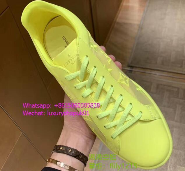 Louis Vuitton Luxembourg sneaker transparent textile embroidered Monogram shoes