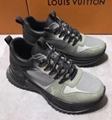 Louis Vuitton Run Away Pulse sneaker Mix materials Monogram canvas Bi-color lace