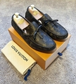 Louis Vuitton Arizona Mens Moccasin Loafer Monogram canvas dress shoes flats