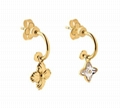 Louis Vuitton Blooming Strass mismatched earrings crystal strass Monogram Flower
