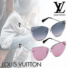 Louis Vuitton Plein Soleil sunglasses Cat-eye striking rimless design eyewear