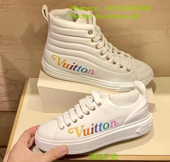 Louis Vuitton Time Out sneaker calf leather rainbow-colored Vuitton signature lv