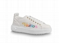 Out sneaker Louis Vuitton Time calf leather rainbow-colored Vuitton signature lv