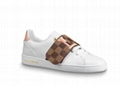 Louis Vuitton classic Frontrow sneaker white calf leather wide strap lv shoes
