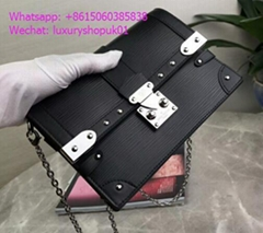 Louis Vuitton Trunk chain wallet in Epi leather studs S-lock clasp Trunk clutch