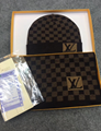 Louis Vuitton 2020 fashion Petit Damier hat and scarf set