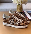 women Louis Vuitton Monogram Jungle Frontrow leopard-print fashion Sneaker