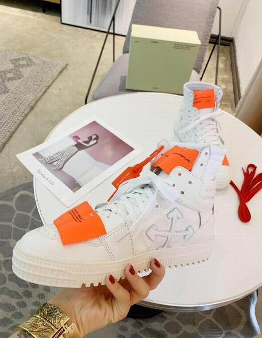 Off-White Men's Off Court 3.0 High-Top Leather ODSY-1000 Sneakers fashion boots