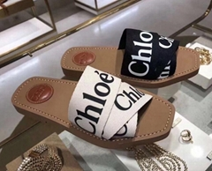 wholsale price CHLOE Woody Flat Logo Ribbon fashion Slide Sandals for men and wo (Hot Product - 1*)
