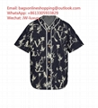 Louis Vuitton Leaf Denim Baseball Shirt