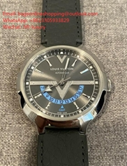 LOUIS VUITTON Voyager GMT Watch Waterproof 41MM Q7D300 Stainless Steel