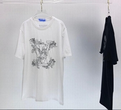 Embroidered    Flower graphic T-Shirt compact cotton jersey