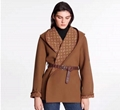 louis vuitton 1A8260 Wrap Peacoat In Wool And Silk With Monogram  women jacket
