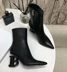 Balmain autumn and winter latest B heel boots B letter buckle zipper Leather boo (Hot Product - 1*)