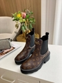 LV 1A8949 Beaubourg Ankle women Boot Chelsea boots Monogram-canvas piping around