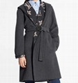 Louis vuitton 1A82GO Hooded Wrap Coat With Belt Giant Monogram motif interior