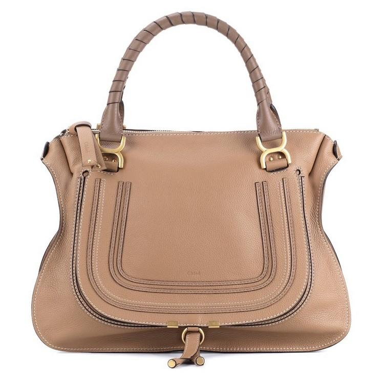CHLOÉ Marcie large leather tote calf leather structured bag shop luxury handbags