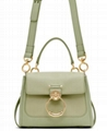 CHLOÉ Mini Tess Day Bag buffed leather messenger bags spring-ring fastening tote