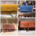 CHLOÉ Mini Faye Buffed calfskin and suede shoulder bag Latest Designer Handbag